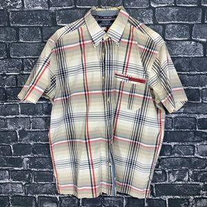 Brown Tommy Jeans Full Button Dress Shirt